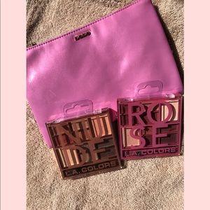 🌺BEBE bag & LA colors eyeshadow palettes